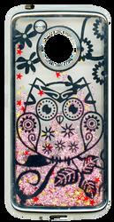 Motorola E4 Electroplated(Silver) Pink(Owl)