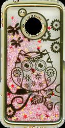 Motorola E4 Electroplated(Gold) Pink(Owl)