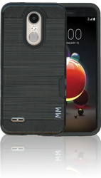 LG Aristo 2 MM Slim Dura Case Metal Finish With Card Holder Black