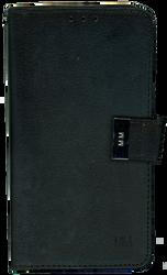 Motorola E4 PLUS MM Premium Folio Wallet Black