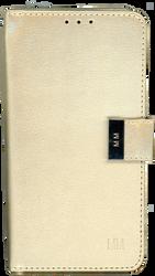 Motorola E4 PLUS MM Premium Folio Wallet Gold