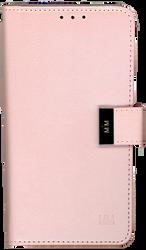 Motorola E4 PLUS MM Premium Folio Wallet Rose Gold