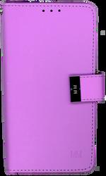 Motorola E4 PLUS MM Premium Folio Wallet Purple