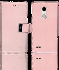 LG Aristo 2 MM Premium Folio Wallet Rose Gold