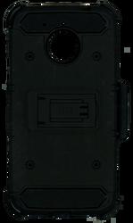 Motorola E4 PLUS MM Silo Rugged Case Black(Tempered Glass Included)