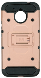 Motorola E4 PLUS MM Silo Rugged Case Rose Gold(Tempered Glass Included)