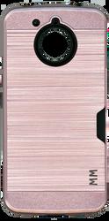 Motorola E4 PLUS MM Slim Dura Case Metal Finish With Card Holder Rose Gold