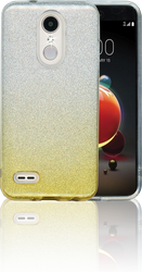 LG Aristo 2MM Glitter Hybrid (Two Tone) Gold