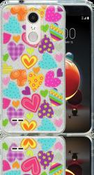 LG Aristo 2 MM Hearts Glitter Hybrid