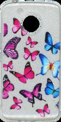 Motorola E4 PLUS MM Butterfly Glitter Hybrid