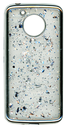 Motorola E4 PLUS Electroplated glitter bling Silver