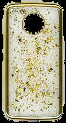 Motorola E4 PLUS Electroplated glitter bling Gold