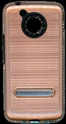 Motorola E4 PLUS Carbon Fiber Metal W Kickstand Rose Gold