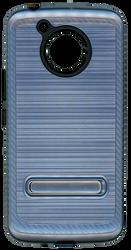 Motorola E4 PLUS Carbon Fiber Metal W Kickstand Ink Blue