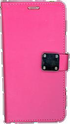 Motorola E4 PLUS Premium Folio Wallet Hot Pink