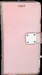 Motorola E4 PLUS Premium Folio Wallet Rose Gold