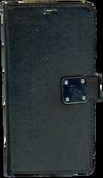 Motorola E4 PLUS Premium Folio Wallet Black