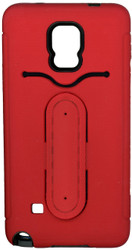 Samsung Galaxy Note 4 Snap Tail Hybrid Case With Kickstand Red