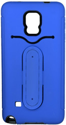Samsung Galaxy Note 4 Snap Tail Hybrid Case With Kickstand Blue