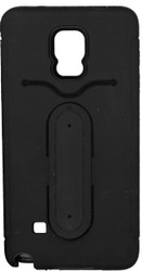Samsung Galaxy Note 4 Snap Tail Hybrid Case With Kickstand Black