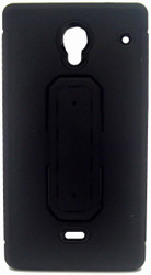 Sharp Aquos Crystal Snap Tail Hybrid Case With Kickstand Black
