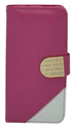 Kyocera Hydro Wave Design Wallet with Bling Pink