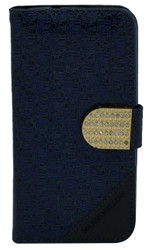 LG Volt 2 Design Wallet with Bling Blue