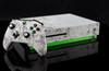 Microsoft Xbox One S White Graffiti and Green Carbon Fiber Skin by PhantomSkinz