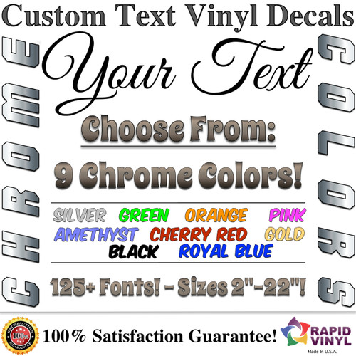 Home · custom lettering chrome custom lettering image 1