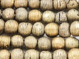 Brass Round Metal Beads 12-14mm - Ghana (ME116)
