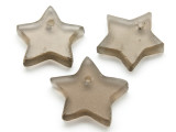 Brown (Smoky) Star Recycled Glass Bead - Pendant - Indonesia (AP447)