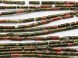 Unakite Tube Gemstone Beads 11mm (GS883)