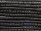 Black Glass Maasai Trade Beads 5mm - Africa (AT44)