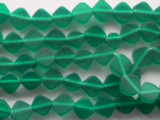 Emerald Green Diamond Tabular Resin Beads 10mm (RES334)