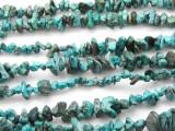 "Turquoise w/Matrix Chip Beads - 30"" strand (TUR40)"