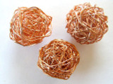 Round Copper Wire Bead 20mm (CP51)