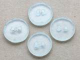 Recycled Glass Buttons, Coke Bottle (set of 4) 18mm - Indonesia (AP474)