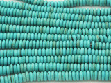 Turquoise Magnesite Rondelle Spacer Gemstone Beads 6mm (GS1472)