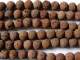 Red Natural Lava Rock Round Beads 8mm (LAV43)