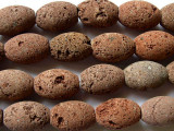 Red Natural Lava Rock Large Rice Beads 18mm (LAV48)