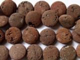 Red Natural Lava Rock Round Tabular Beads 18mm (LAV50)