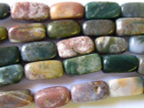 Fancy Jasper Rectangular Block Gemstone Beads 18mm (GS1824)