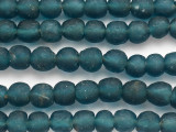 Teal Blue Recycled Glass Beads 12-14mm - Africa (RG67)
