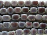 Purple Mauve Block Glass Beads 7-9mm (JV498)