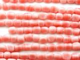 Rose Pink Triangular Glass Beads 6-8mm (JV504)