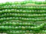 Transparent Green Glass Beads 4-6mm (JV571)