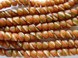 Clay w/Stripes Glass Beads 5-7mm (JV477)