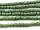 Forest Green Glass Beads 4-6mm (JV592)