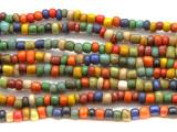 "Multi-Color Glass Beads - 44"" strand (JV9003)"