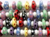Mushroom Lampwork Glass Beads 16mm (LW1287)